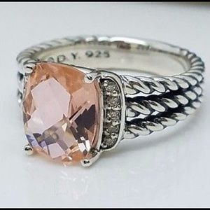 David Yurman Petite Morganite Wheaton Ring